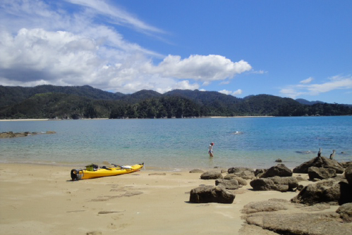 The abel tasman national park located in the top of the south island - Wandering Sadhu 183 Abel Tasman National Park